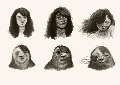 Cara seal expression sheet final (Low Res) ©2017 Carina Roberts Illustration.jpg